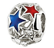 Prerogatives Sterling Cutout Stars Bead - J310920