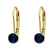 Round Birthstone Lever Back Earrings, 14K Gold - J311820