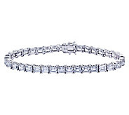 Diamonique Sterling Princess Tennis Bracelet - J311920
