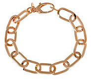 Bronze 8 Polished Oval Link Bracelet by BronzoItalia - J313720