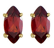 Marquise Gemstone Stud Earrings, 14K Gold - J314020