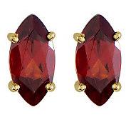 Marquise Gemstone Stud Earrings, 14K Gold - J314020