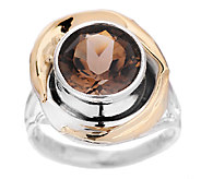 Hagit 3.00 ct Smoky Quartz Ring, Sterling/14K - J316920