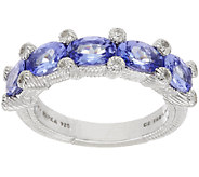 Judith Ripka Sterling 2.00 ct Tanzanite Bezel Set Ring - J318120