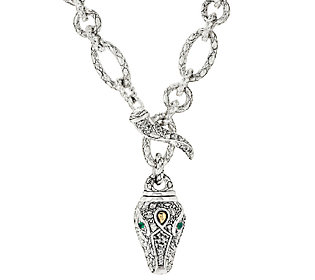 """Product image of JAI John Hardy Sterling Silver & 14K Croco Chain Link 20"""" Necklace"""