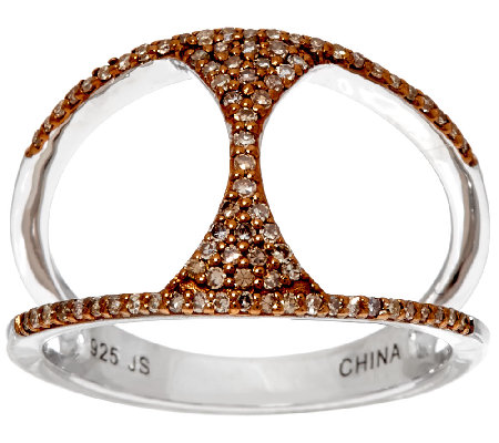 Open Work Diamond Ring Sterling 1 4 Cttw By Affinity