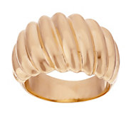 As Is Oro Nuovo Bold Polished Ribbed Twist Ring 14K - J322120