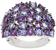 As Is Graziela Gems 4.10 cttw Tanzanite & Amethyst Ring - J322420