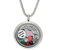Stainless Steel Our Father Shaker Pendant with Chain - J323820