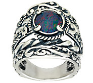 Carolyn Pollack Opal Triplet Sterling Silver Signature Design Ring - J324120