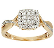 Cluster Cushion Shape Diamond Ring, 14K, 1/4 cttw, by Affinity - J331120