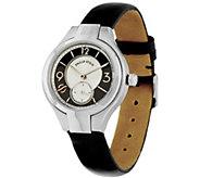 Philip Stein Black Leather Strap Classic Round Mini Watch - J334820
