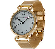 Isaac Mizrahi Live! Mesh Strap Watch with Round Dial - J335020