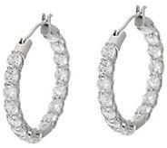 Diamonique 30 Stone Hoop Earrings, Sterling - J349320