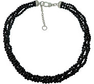 Judith Ripka Sterling Torsade w/ Onyx Beads Necklace - J376620