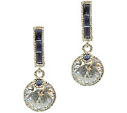 Judith Ripka Sterling Diamonique & Blue Sapphire Earrings - J376920