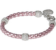 Judith Ripka Sterling Verona Braided Heart Charm Bracelet - J377520
