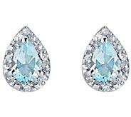 Sterling Silver Pear Shaped Gemstone Earrings - J380920