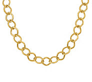 Italian Gold Square Link Necklace, 14K - J381920
