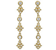 Judith Ripka 14K Clad Diamonique Drop Earrings - J383220