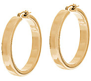 Oro Nuovo Polished Round Hoop Earrings, 14K - J53120