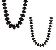 Joan Rivers Set of 2 Faceted Bead Necklaces - J260521