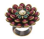 Fern Mallis Cabochon Flower Ring - J264121