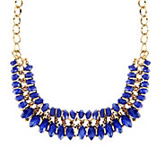 Two Row Bead Statement Necklace - J270021