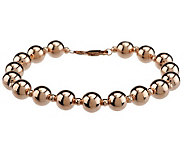 EternaGold 8 Polished Bead Bracelet 14K Gold, 6.0g - J272121