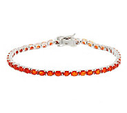 4.35 ct tw Mexican Fire Opal Sterling 8 Tennis Bracelet - J282321