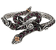 Barbara Bixby Sterling & 18K Gemstone Wrap Snake Bangle - J285621