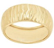 14K Gold Textured & Diamond Cut Band Ring - J285821