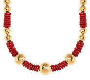 As Is Veronese 18K Clad 18 Gemstone and Nugget Necklace - J286821