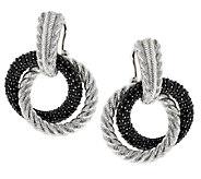 Judith Ripka Sterling 3.40cttw Black Spinel Hoop Earrings - J288321