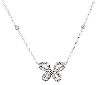 Product image of Diamond Butterfly Necklace, Sterling, 1/2 cttw, Affinity