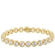 Judith Ripka Sterling & 14K Clad 118 Facet Diamonique Bracelet 7-1/4 - J293821