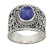 Artisan Crafted 3.00cttw Tanzanite Cabochon Sterling Ring - J294021