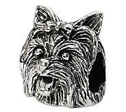 Prerogatives Sterling Yorkshire Terrier Head Bead - J299521