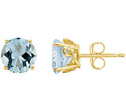 2.00 ct tw Aquamarine Fancy Gemstone Stud Earrings, 14K Gold - J300521