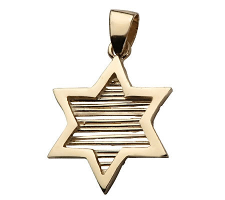 Adi Paz Star Of David Pendant 14k Yellow Gold Qvc Com