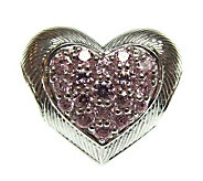 Judith Ripka Sterling Diamonique Puffed HeartCh arm - J301921