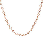Bronze 18 Bezel Set Faceted Crystal Necklace by Bronzo Italia - J317621