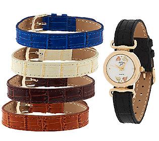 Product image of Black Hills Goldtone Interchangeable Strap Watch 10K/12K
