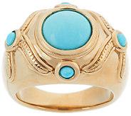 14K Gold Sleeping Beauty Turquoise Polished Ring - J319421