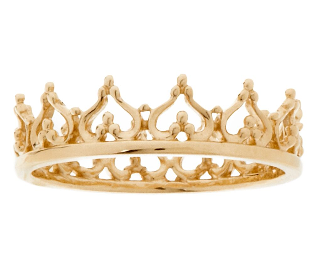 14k Gold Polished Queen 39 S Crown Ring J320021