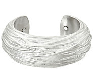 Sterling Silver Bold Textured Cuff by Or Paz - J320321