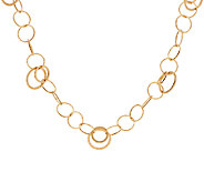 14K Gold 20 Bold Circular Link Necklace, 6.1g - J321621