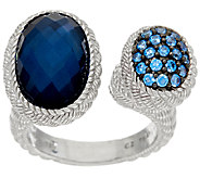 Judith Ripka Sterling Pave & Oval Gemstone Ring - J321821