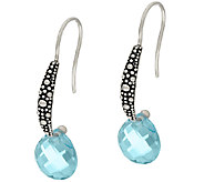 Michael Dawkins Starry Night Sterling & 6.50 ct Blue Topaz Earrings - J323121
