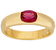 The Elizabeth Taylor Simulated Ruby Stack Gem Ring - J323521